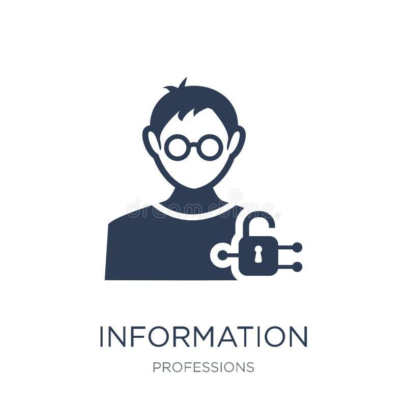 Ewidencyjna analityk bezpieczeństwa ikona Modny płaski wektorowy Informatio ilustracji