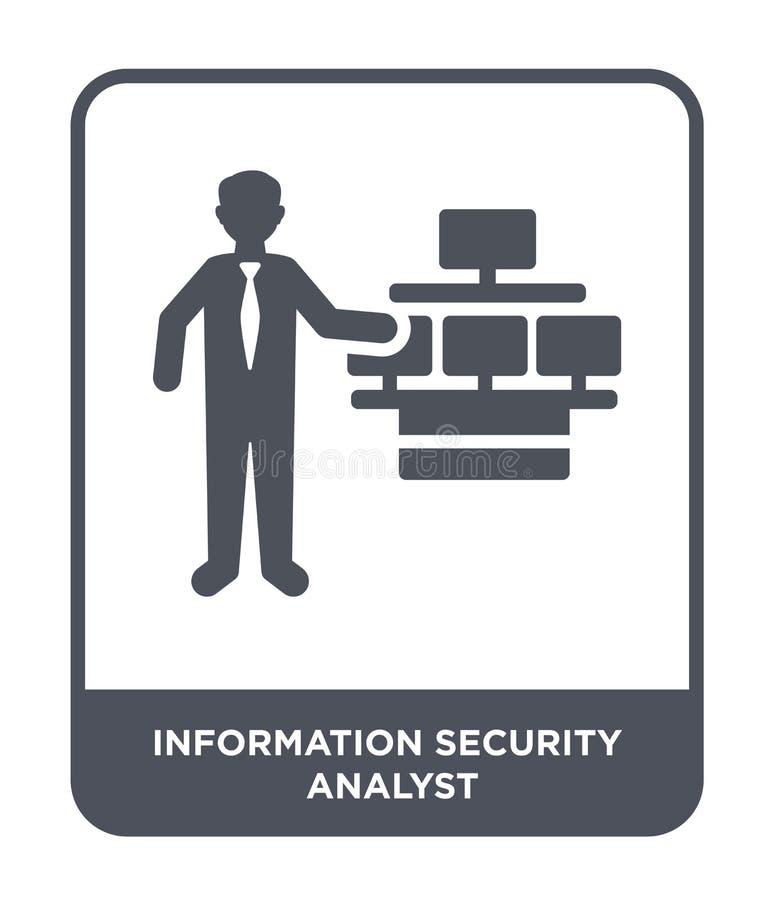 ewidencyjna analityk bezpieczeństwa ikona w modnym projekta stylu ewidencyjna analityk bezpieczeństwa ikona odizolowywająca na bi ilustracji