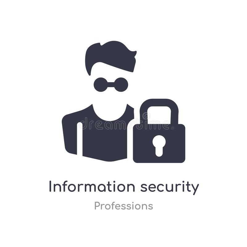 Ewidencyjna analityk bezpiecze?stwa ikona odosobnionej ewidencyjnej analityk bezpieczeństwa ikony wektorowa ilustracja od zawodów royalty ilustracja