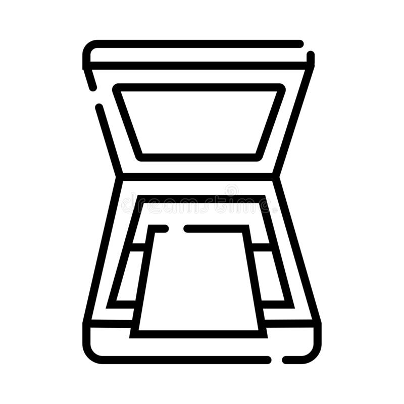 Ewidencyjna i mobilna technologia wektoru ikona ilustracji