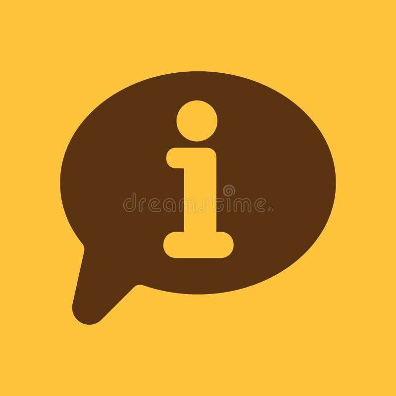 Ewidencyjna ikona Informacja i faq symbol mieszkanie royalty ilustracja