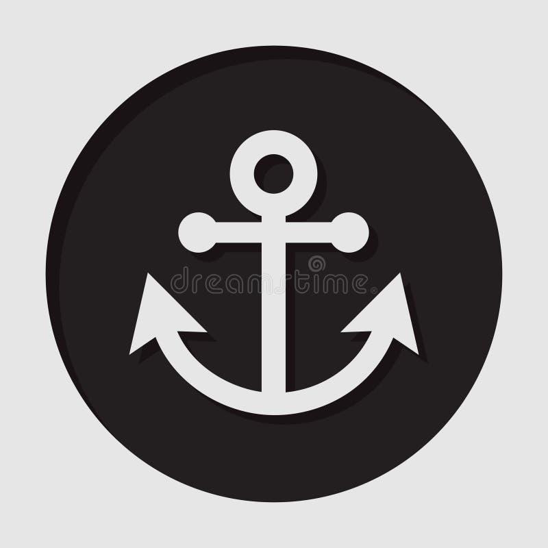 Ewidencyjna ikona - kotwica royalty ilustracja