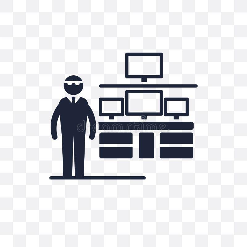 Ewidencyjnego analityk bezpieczeństwa przejrzysta ikona Ewidencyjny Secur royalty ilustracja