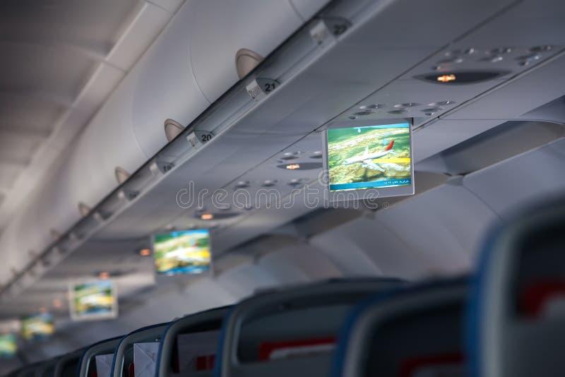 Ewidencyjnego pokazu inside samolot fotografia royalty free
