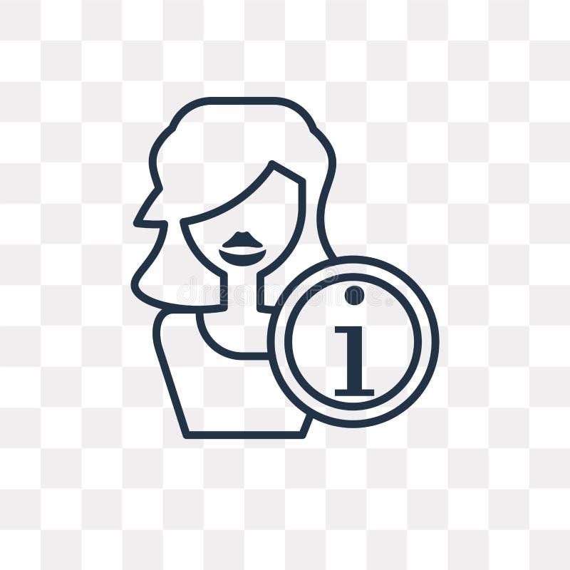 Ewidencyjnego wektoru ikona odizolowywająca na przejrzystym tle, linia royalty ilustracja