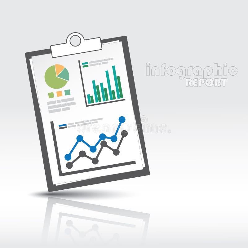 Ewidencyjny grafika raport ilustracji
