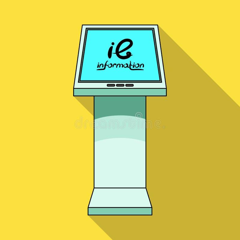 Ewidencyjny terminal Terminale przerzedżą ikonę w mieszkanie stylu symbolu zapasu ilustraci isometric wektorowej sieci royalty ilustracja