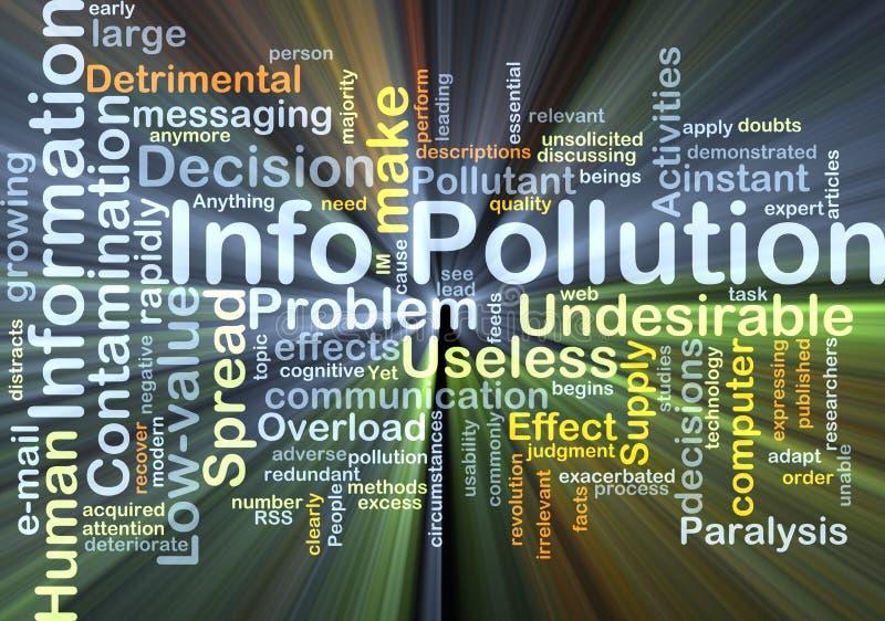 Ewidencyjny zanieczyszczenia tła pojęcia jarzyć się royalty ilustracja