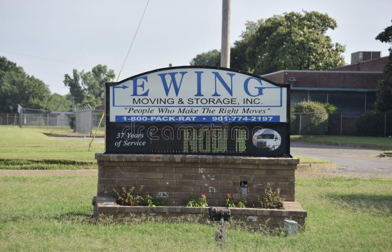 Ewing Moving et signe de stockage, Memphis, TN photographie stock libre de droits