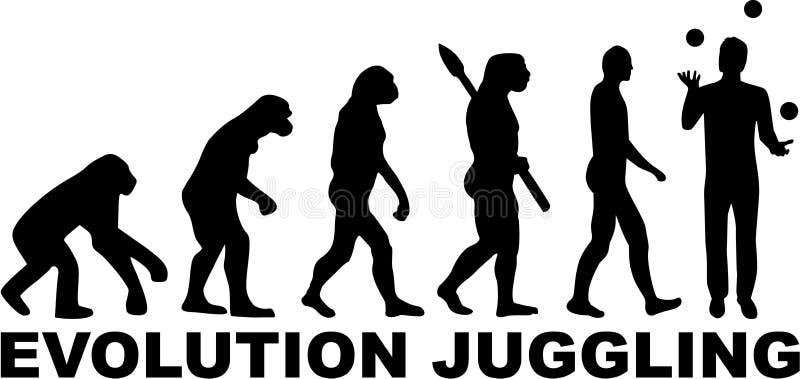 Ewoluci Żonglować royalty ilustracja
