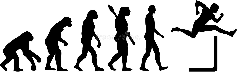 Ewoluci hurdling royalty ilustracja