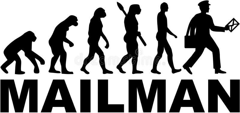 Ewoluci Mailman wektor royalty ilustracja