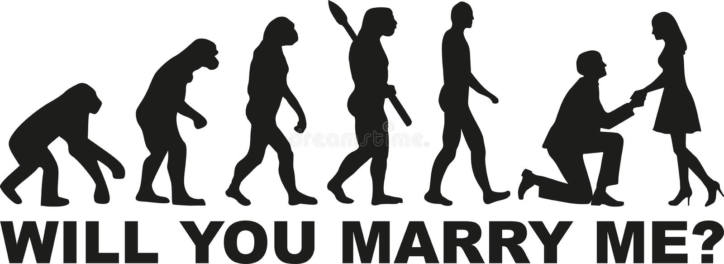 Ewoluci propozycja - ty poślubiasz ja ilustracji