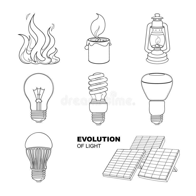 Ewolucja światło ilustracja wektor