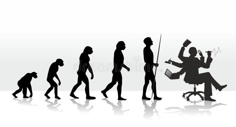 Ewolucja ilustracja wektor