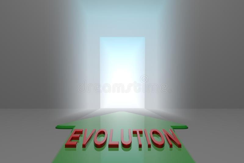 Ewolucja otwarta brama royalty ilustracja