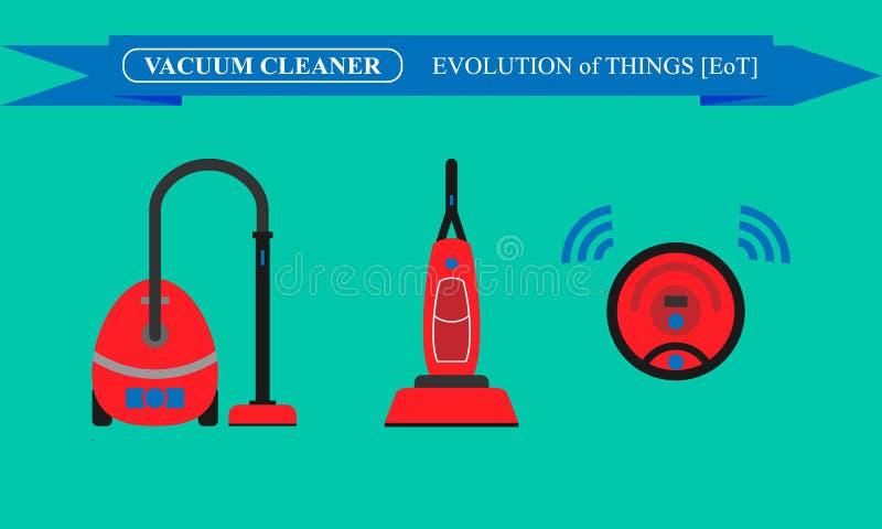 Ewolucja próżniowi czyściciele royalty ilustracja