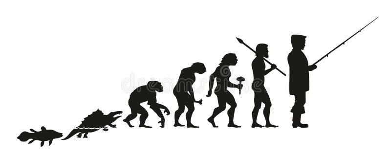 Ewolucja rybak od ryba, przez innego intermedia ilustracji