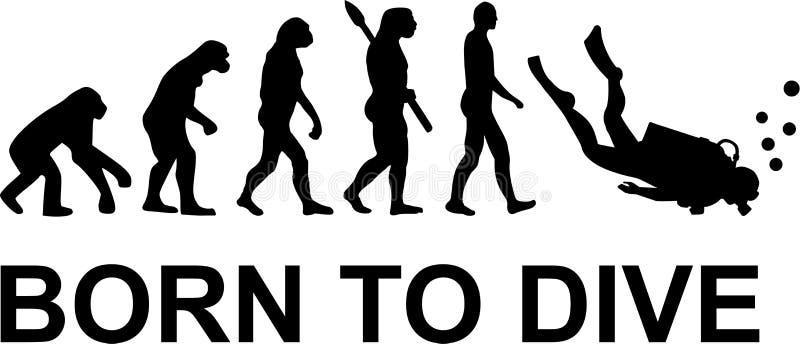 Ewolucja urodzona nurkować ilustracji