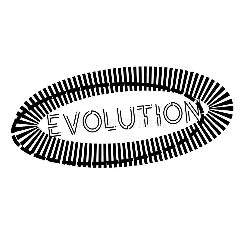 EWOLUCJA znaczek na bielu ilustracji