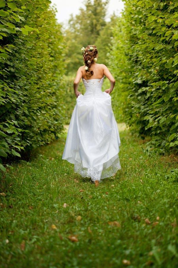 Exécutez la mariée partie images stock