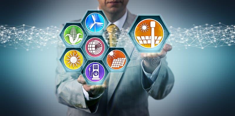 Exécutif ajoutant CSP au mélange d'énergie renouvelable image libre de droits