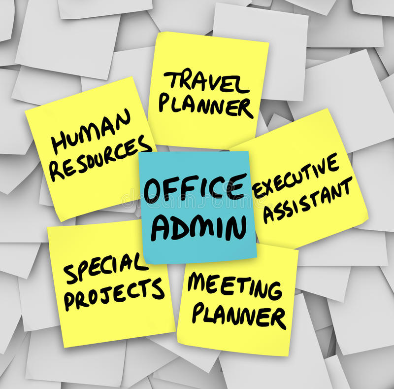 Exécutif de Job Duties Meeting Travel Planner de directeur des services administratifs illustration de vecteur