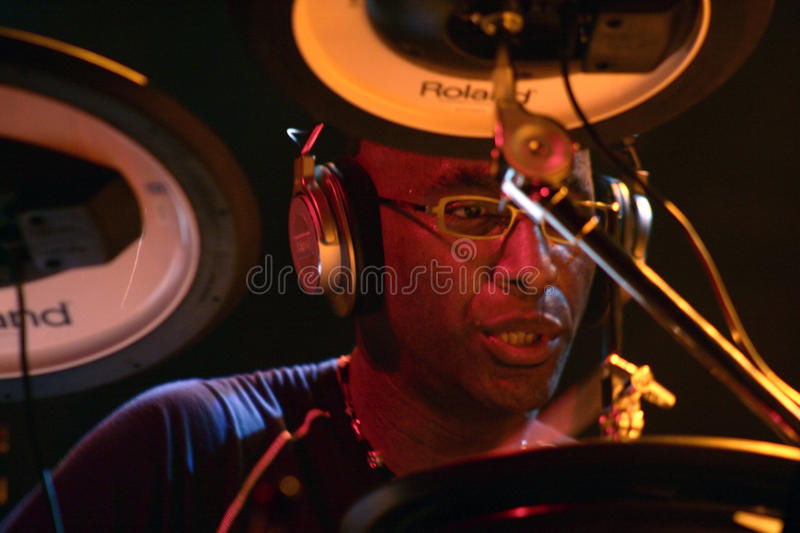 Artiste Omar Hakim de batteur photo stock