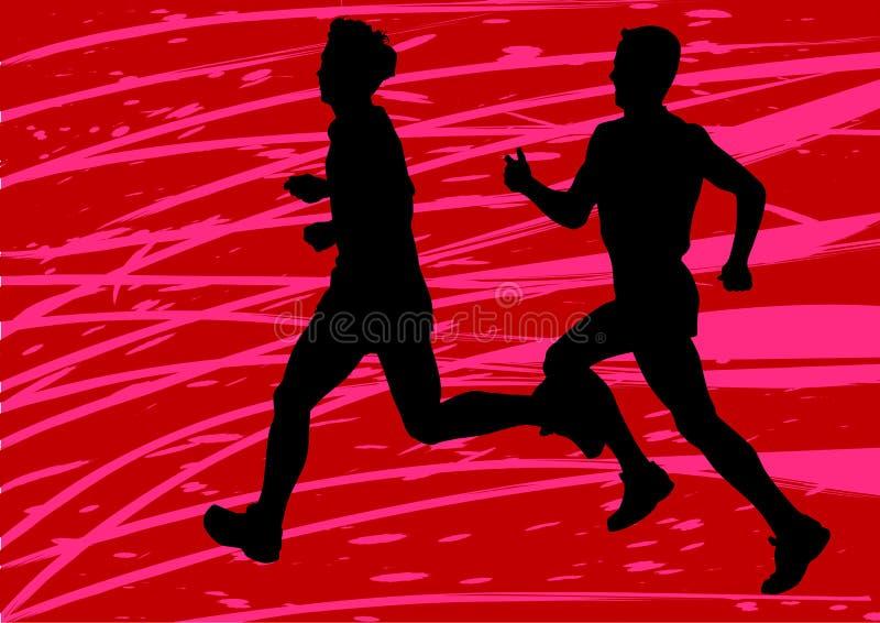 Exécution de deux garçons illustration de vecteur