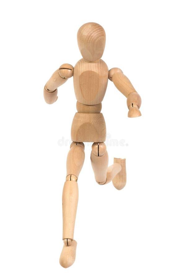 exécution de mannequin en bois photographie stock