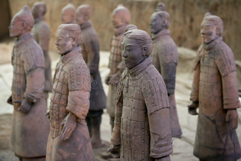 Exército da terracota, China foto de stock