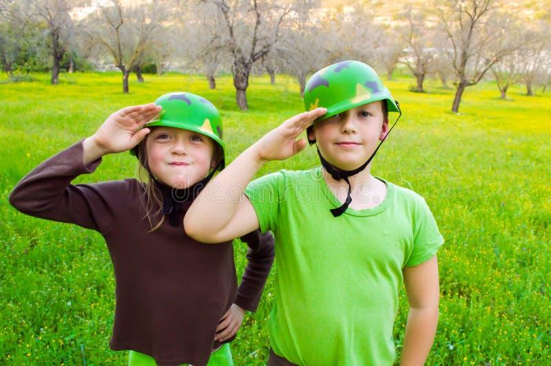 Exército das crianças fotos de stock royalty free