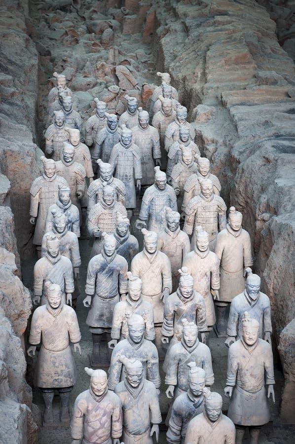Exército de guerreiros da terracota perto de Xian, Shanxi imagem de stock royalty free