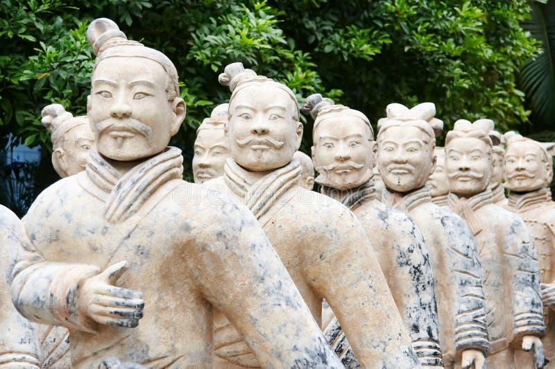 Exército de guerreiros do terracotta foto de stock royalty free