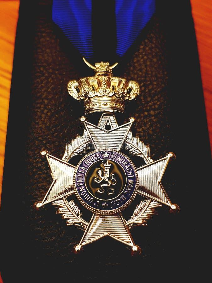 Exército de Medaille Bélgica fotografia de stock royalty free