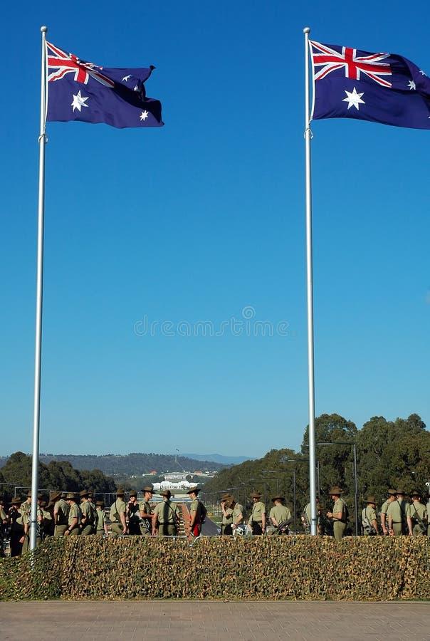 Exército do AU fotos de stock