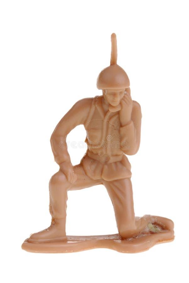 Exército do brinquedo radioman foto de stock royalty free