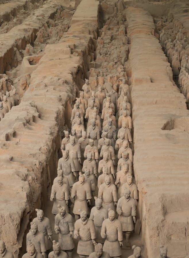 Exército do Terracotta imagem de stock