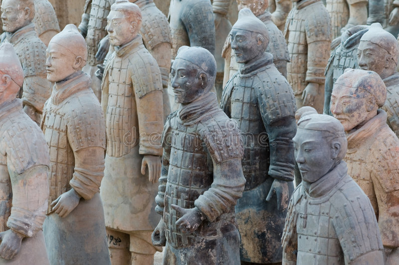 Exército do Terracotta imagem de stock royalty free