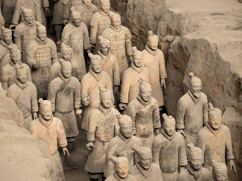 Exército do Terracotta - Xian - China imagens de stock