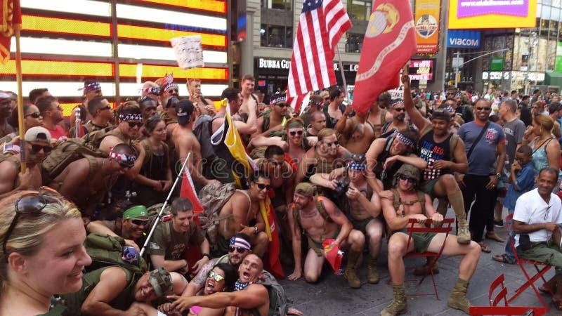 Exército em NYC foto de stock