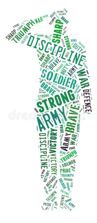 Exército forte; O slogan do exército de Estados Unidos ilustração do vetor