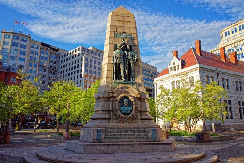 Exército grande de Stephenson do memorial da república imagens de stock royalty free