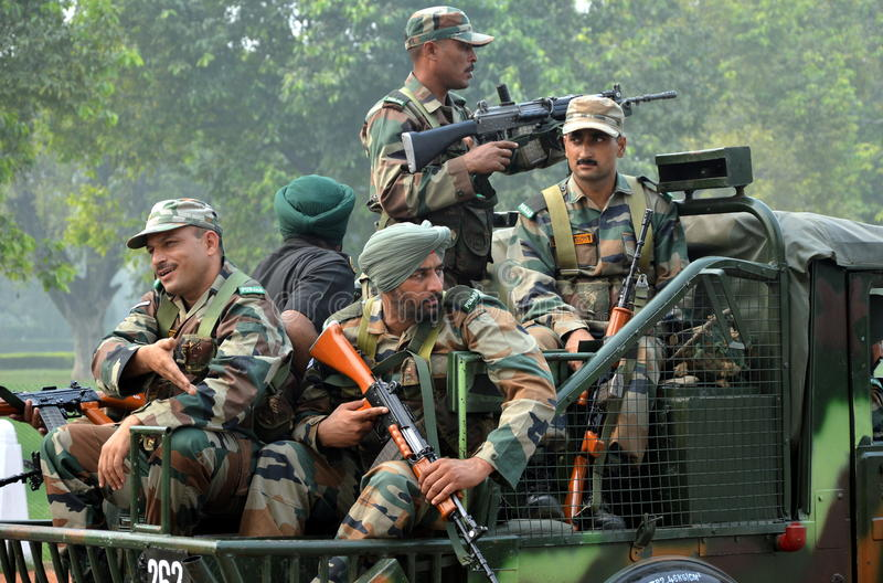 Exército indiano imagens de stock