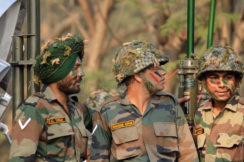 Exército indiano junto imagens de stock