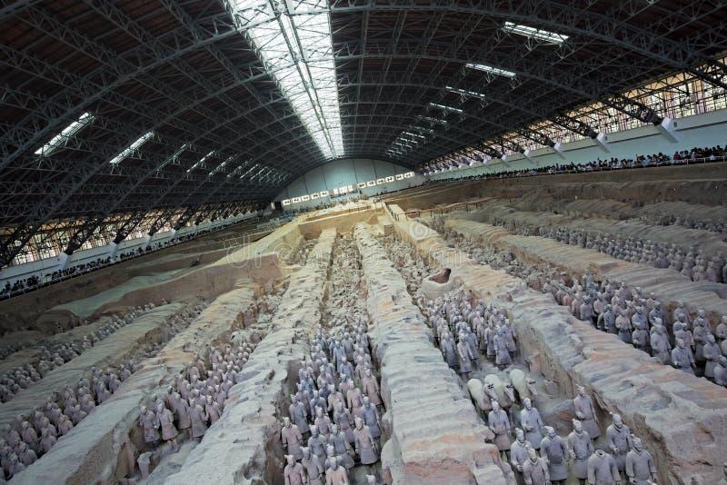 Exército mundialmente famoso da terracota situado em Xian China fotografia de stock royalty free