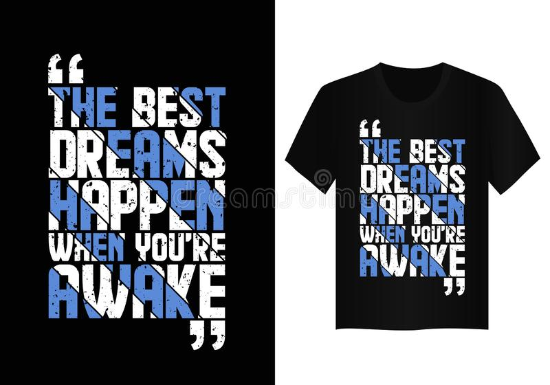 Quote typography t shirt design  royalty free stock images