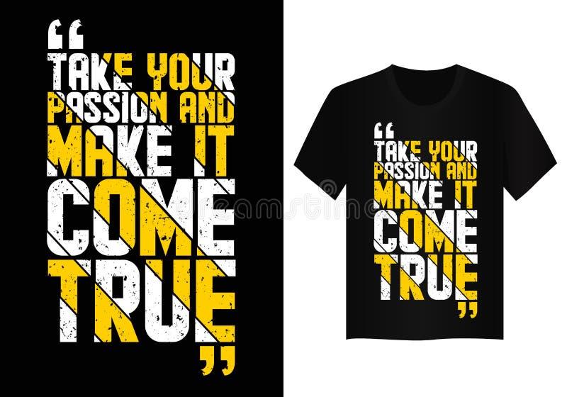 Quote typography t shirt design  stock photo