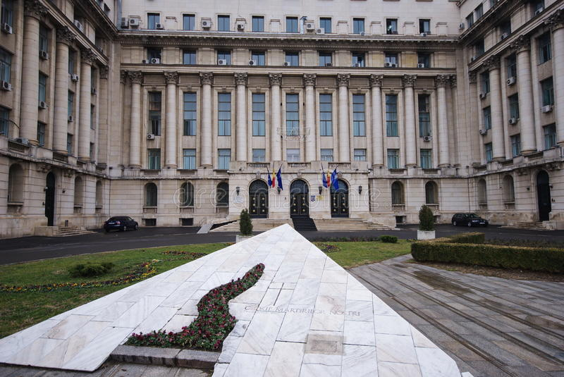 Ex central committee building in Bucharest, Romani