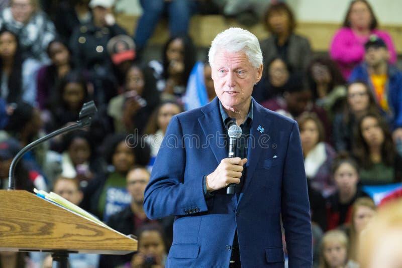 Ex-presidente Bill Clinton em Pensilvânia imagem de stock